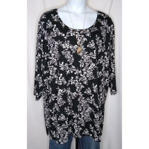 CATHERINES EASY FIT Blk/Wht TEE